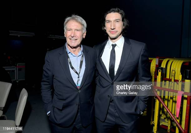 "Harrison Ford and Adam Driver arrive for the World Premiere of ""Star Wars: The Rise of Skywalker"", the highly anticipated conclusion of the Skywalker..."