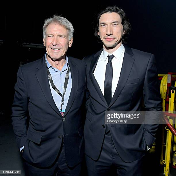 Harrison Ford and Adam Driver arrive for the World Premiere of Star Wars The Rise of Skywalker the highly anticipated conclusion of the Skywalker...