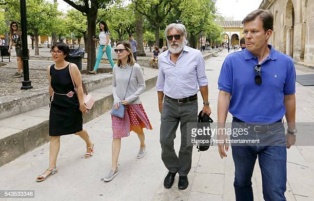 Harrison Ford and Calista Flockhart are seen visiting the MosqueCathedral World Heritage Site since 1984 on June 28 2016 in Cordoba Spain