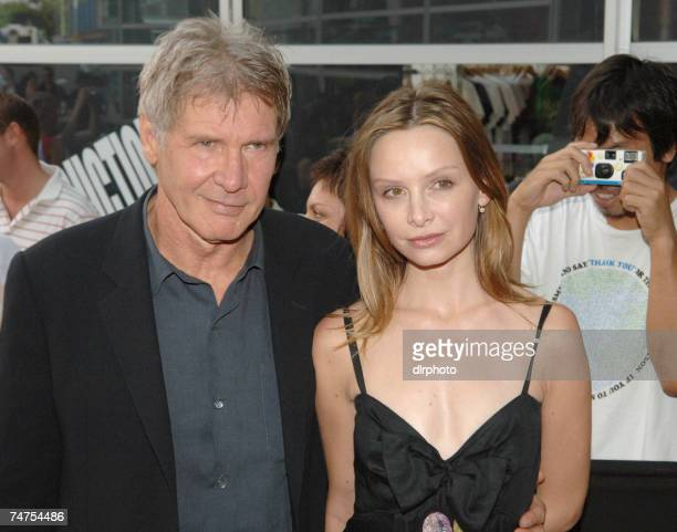Harrison Ford and Calista Flockhart at the 'Firewall' Sydney Premiere Arrivals at Greater Union Westfield Bondi Junction in Sydney NSW