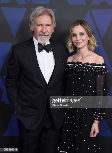 Harrison Ford and Calista Flockhart attend the Academy of Motion Picture Arts and Sciences' 10th annual Governors Awards at The Ray Dolby Ballroom at...