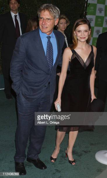 Harrison Ford and Calista Flockhart during 15th Annual Environmental Media Awards Arrivals at Wilshire Ebell Theatre in Hollywood California United...