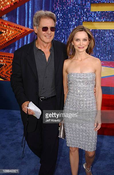 Harrison Ford and Calista Flockhart during 2003 MTV Movie Awards Arrivals at The Shrine Auditorium in Los Angeles California United States