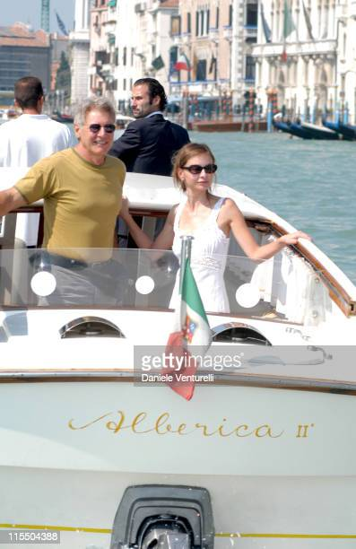Harrison Ford and Calista Flockhart during 2005 Venice Film Festival Harrison Ford and Calista Flockhart Sighting in Venice Lido Italy