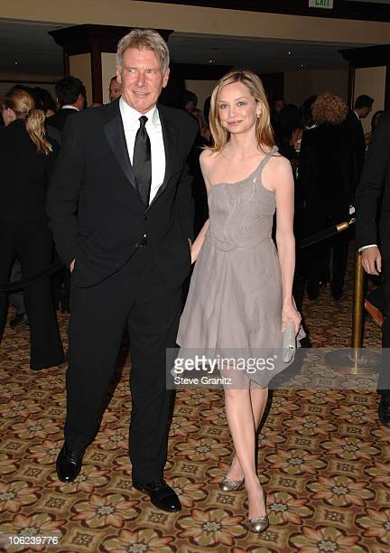 Harrison Ford and Calista Flockhart during 2007 Producers Guild Awards Arrivals at Century Plaza Hotel in Century City California United States
