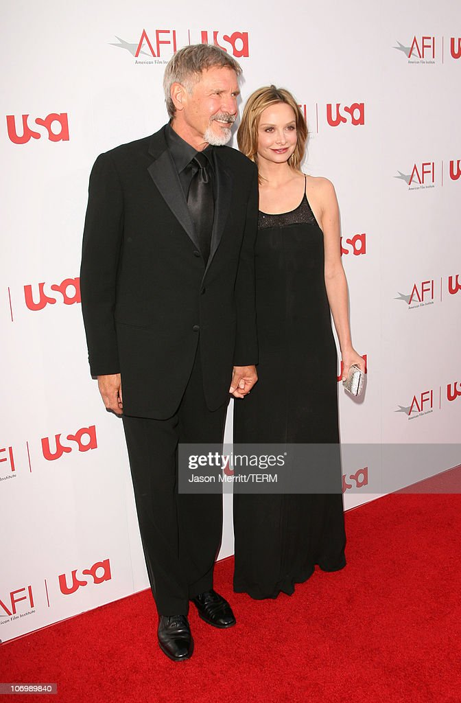 Harrison Ford and Calista Flockhart during 34th Annual AFI Lifetime Achievement Award: A Tribute to Sean Connery - Arrivals at Kodak Theatre in Hollywood, California, United States.