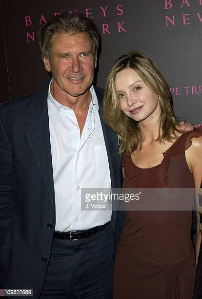 Harrison Ford and Calista Flockhart during Fashion For A Cause Emanuel Ungaro Fashion Show To Benefit Rape Treatment Center at Private Home of...