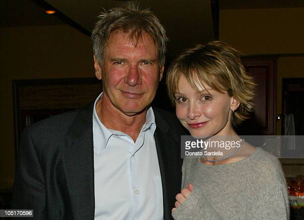 Harrison Ford and Calista Flockhart during Ferragamo Moroccan Feast Celebrating PSArts at Elizabeth Stewart House in Santa Monica California United...
