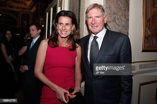 Harrison Ford and guest attend the Conservation International 16th Annual New York Dinner at The Plaza Hotel on May 15 2013 in New York City