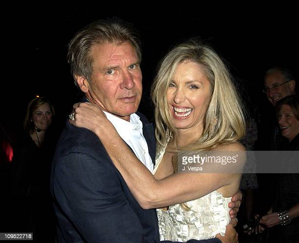 Harrison Ford and Heather Thomas during Fashion For A Cause Emanuel Ungaro Fashion Show To Benefit Rape Treatment Center at Private Home of Heather...