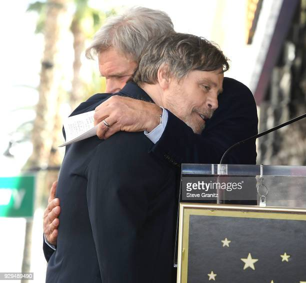 Harrison Ford and Mark Hamill Honored With Star On The Hollywood Walk Of Fame on March 8 2018 in Hollywood California
