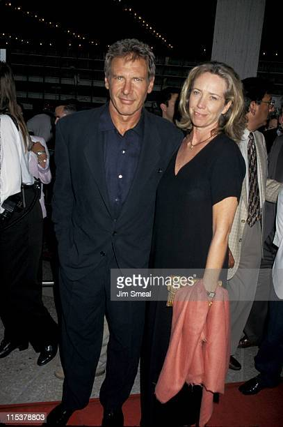 Harrison Ford and Melissa Mathison during 'Air Force One' Los Angeles Premiere at Cineplex Odeon Century Plaza Cinema in Century City California...