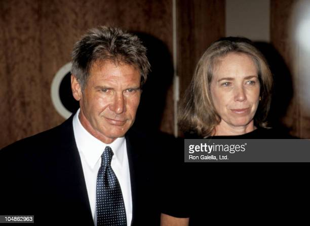 Harrison Ford and Melissa Mathison during Amnesty International USA 2nd Annual Media Spotlight Awards at Pier Sixty in New York City New York United...
