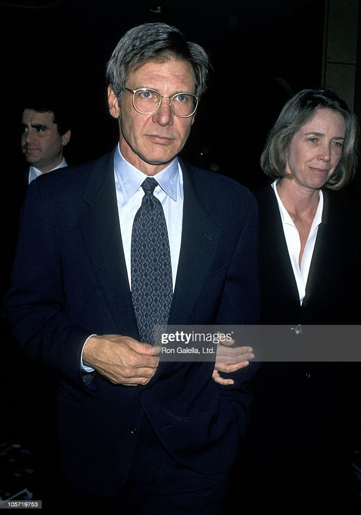 Harrison Ford and Melissa Mathison during NATO/Showest Conference - March 10, 1994 at Bally's Hotel in Las Vegas, California, United States.