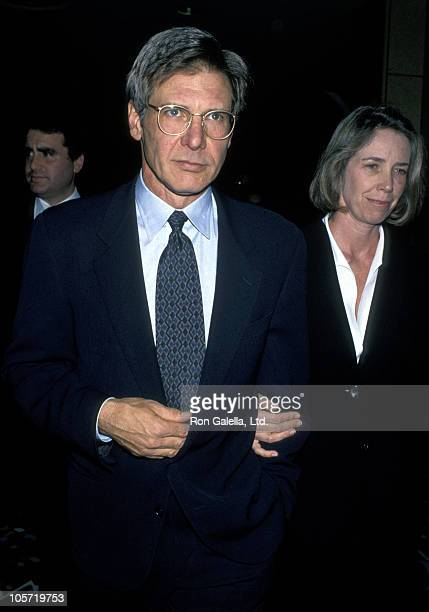 Harrison Ford and Melissa Mathison during NATO/Showest Conference March 10 1994 at Bally's Hotel in Las Vegas California United States