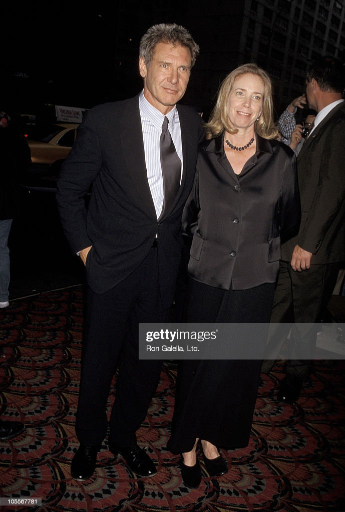 Harrison Ford and Melissa Mathison during 'Six Days, Seven Nights' New York City Premiere at Sony Lincoln Square in New York City, New York, United States.