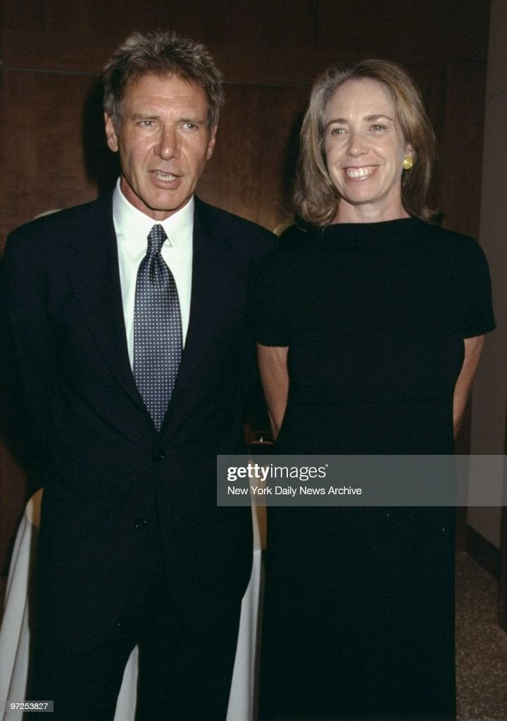 Harrison Ford and wife Melissa Mathison attending Amnesty International USA's second annual Media Spotlight Awards at Pier Sixty.