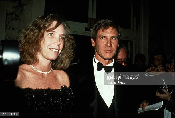 Harrison Ford and wife Melissa Mathison circa 1990 in New York City