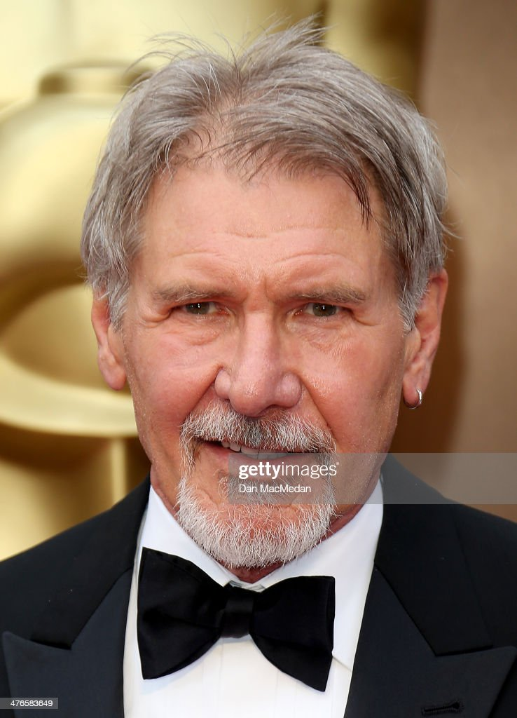 Harrison Ford arrives at the 86th Annual Academy Awards at Hollywood & Highland Center on March 2, 2014 in Los Angeles, California.