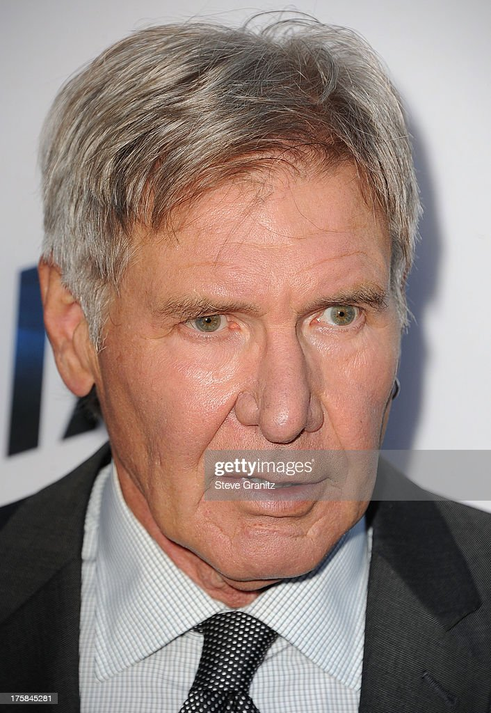 Harrison Ford arrives at the 'Paranoia' - Los Angeles Premiere at DGA Theater on August 8, 2013 in Los Angeles, California.
