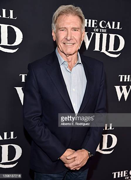 """Harrison Ford arrives at the World Premiere of 20th Century Studios' """"The Call of the Wild"""" at the El Capitan Theatre on February 13, 2020 in..."""