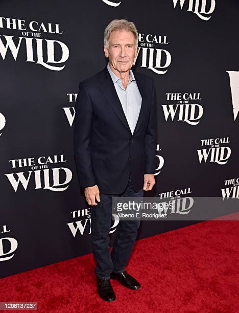 Harrison Ford arrives at the World Premiere of 20th Century Studios' The Call of the Wild at the El Capitan Theatre on February 13 2020 in Hollywood...
