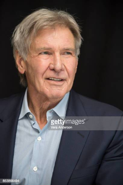 """Harrison Ford at the """"Blade Runner 2049"""" Press Conference at the Ritz Carlton Marriott Marquis Hotel on September 24, 2017 in Los Angeles, California."""
