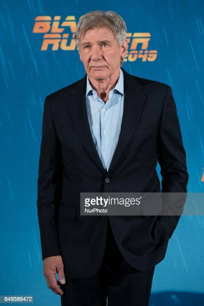 Harrison Ford atends the 'Blade Runner 2049' movie photocall at 'Villamagna Hotel' in Madrid on September 19 2017