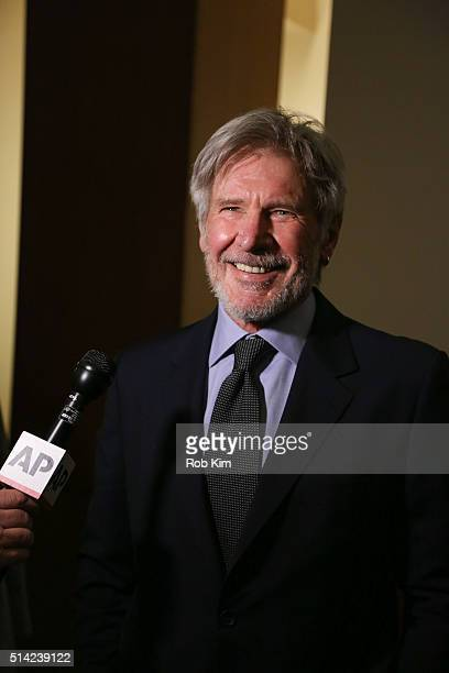 Harrison Ford attends 2016 FACES Gala at Pier Sixty at Chelsea Piers on March 7 2016 in New York City
