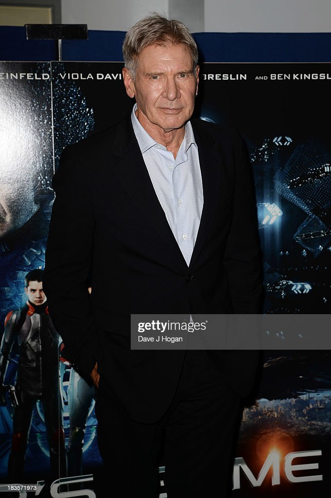 Harrison Ford attends a fan event for 'Enders Game' at The Odeon Leicester Square on October 7, 2013 in London, England.