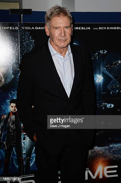 Harrison Ford attends a fan event for 'Enders Game' at The Odeon Leicester Square on October 7 2013 in London England