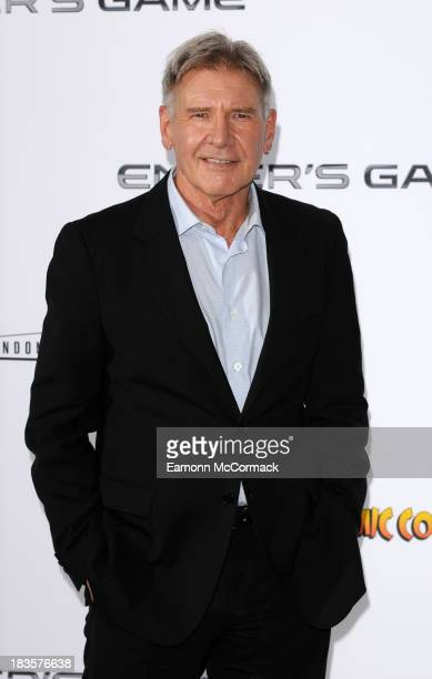 Harrison Ford attends a photocall to promote 'Ender's Game' at Odeon Leicester Square on October 7 2013 in London England