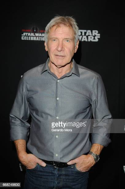 Harrison Ford attends the 40 Years of Star Wars panel during the 2017 Star Wars Celebrationat Orange County Convention Center on April 13 2017 in...