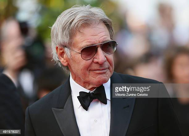 Harrison Ford attends The Expendables 3 premiere during the 67th Annual Cannes Film Festival on May 18 2014 in Cannes France