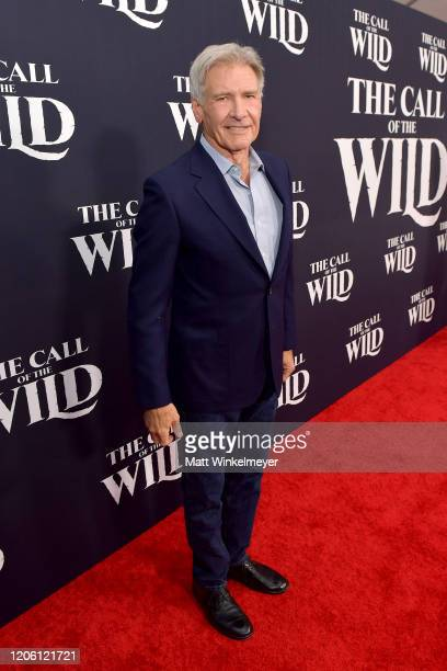 """Harrison Ford attends the Premiere of 20th Century Studios' """"The Call of the Wild"""" at El Capitan Theatre on February 13, 2020 in Los Angeles,..."""