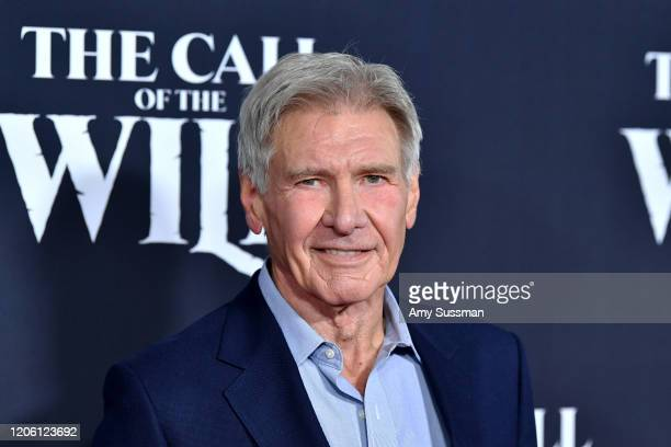 Harrison Ford attends the Premiere of 20th Century Studios' The Call of the Wild at El Capitan Theatre on February 13 2020 in Los Angeles California