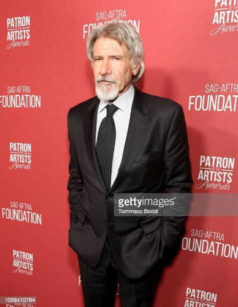 Harrison Ford attends the SAGAFTRA Foundation's 3rd Annual Patron of the Artists Awards at the Wallis Annenberg Center for the Performing Arts on...