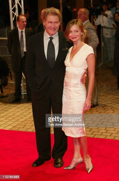 Harrison Ford Calista Flockhart during 2003 Deauville Film Festival Hollywood Homicide Premiere at CID in Deauville France