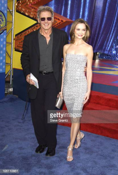 Harrison Ford Calista Flockhart during 2003 MTV Movie Awards Arrivals at The Shrine Auditorium in Los Angeles California United States