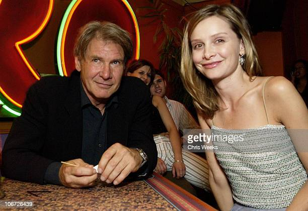 Harrison Ford & Calista Flockhart during Playstation 2 Hosts the Movieline Young Hollywood Awards After-Party in Los Angeles, California, United...