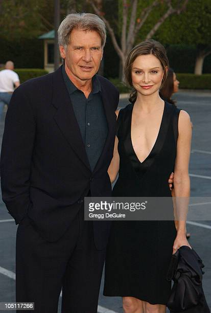 Harrison Ford Calista Flockhart during The 3rd Annual World Stunt Awards Arrivals at Paramount Studios in Los Angeles California United States