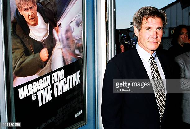 Harrison Ford during Fugitive Los Angeles Premiere at Mann Village in Westwood California United States