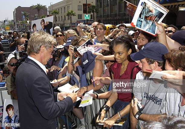 Harrison Ford during Harrison Ford Honored with a Star on the Hollywood Walk of Fame for His Achievements in Film at Hollywood Boulevard in Hollywood...