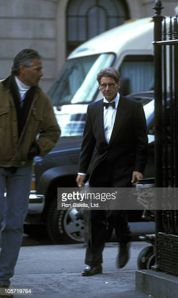 Harrison Ford during Harrison Ford Sighting on the Set of Sabrina February 2 1995 at Park Avenue in New York City New York United States