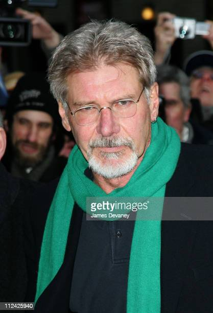 Harrison Ford during Harrison Ford Visits the Late Show with David Letterman February 6 2006 at Ed Sullivan Theatre in New York City New York United...