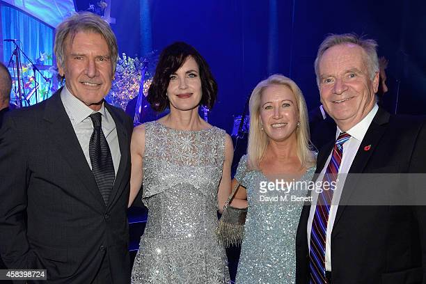 Harrison Ford Elizabeth McGovern Clea Newman and Lord Jeffrey Archer attend the second annual SeriousFun Network Gala at at The Roundhouse on...