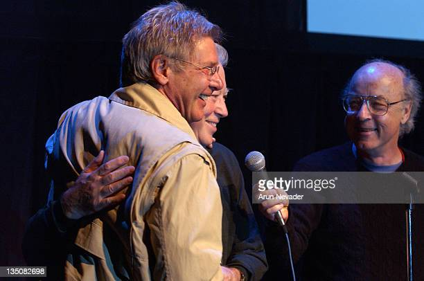 Harrison Ford Fred Roos and Tom Luddy during 31st Telluride Film Festival A Tribute to Fred Roos at Galaxy Theater in Telluride California United...