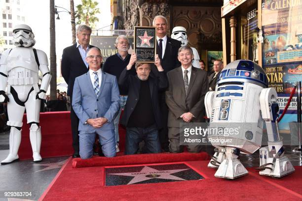 Harrison Ford George Lucas Hollywood Chamber of Commerce Chair of the Board Jeff Zarrinnam LA City Councilman Mitch O'Farrell Mark Hamill and...