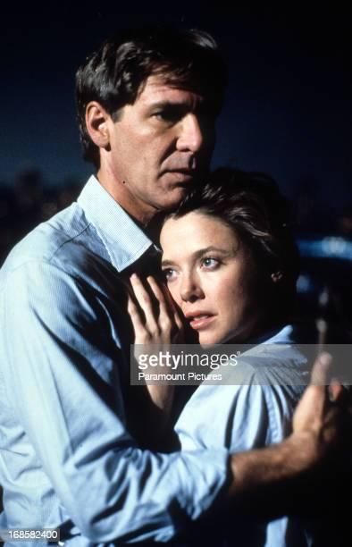 Harrison Ford holds Annette Bening in a scene form the film 'Regarding Henry' 1991