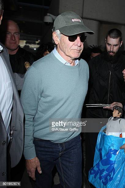 Harrison Ford is seen at LAX on December 18 2015 in Los Angeles California